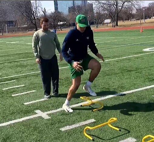 speed and agility training drills for football players - Andrew Serrano & Jeremy Burgos
